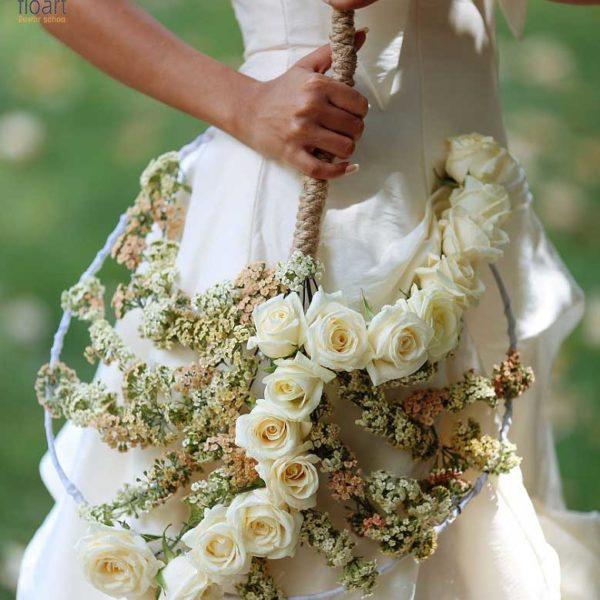 آموزش گل آرایی دسته گل عروس