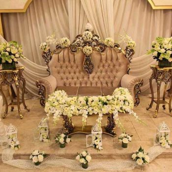 گل آرایی مراسم عروسی و نامزدی
