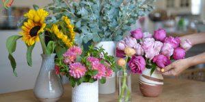 روش نگهداری گل های شاخه بریده در گلدان