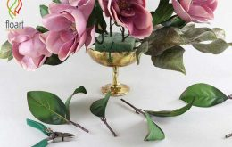 آموزش گل آرایی با ماگنولیای صورتی