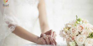 گل آرایی دسته گل رز عروس به سبک اروپایی