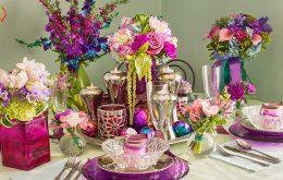 نکاتی در رابطه با گل آرایی میز ناهار خوری با گل طبیعی