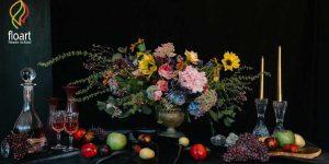 آموزش تزیین گلدان روستیک