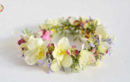 آموزش گل آرایی تاج و دستبند عروس