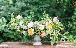 آموزش ساخت گلدان تزیینی با گل طبیعی
