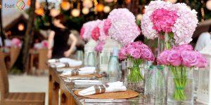 آموزش تزیین میز پذیرایی با گل های طبیعی